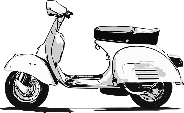 Illustration scooter