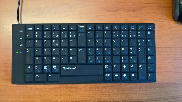 Clavier azerty TypeMatrix