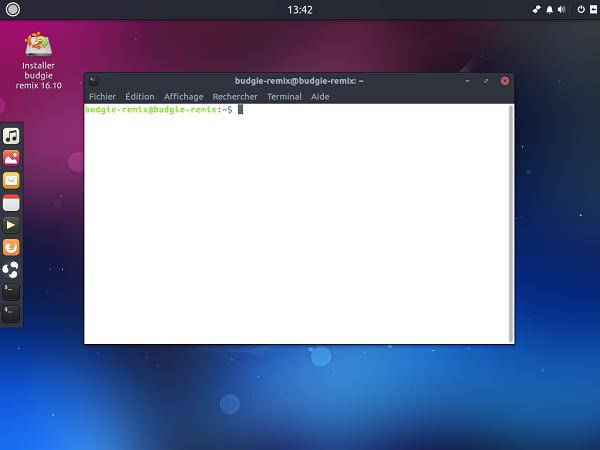Ubuntu Budgie Remix Terminal