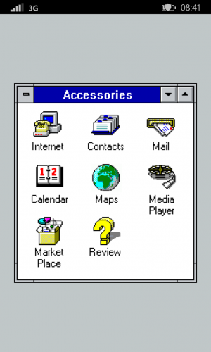 MS-DOS Mobile : win desktop