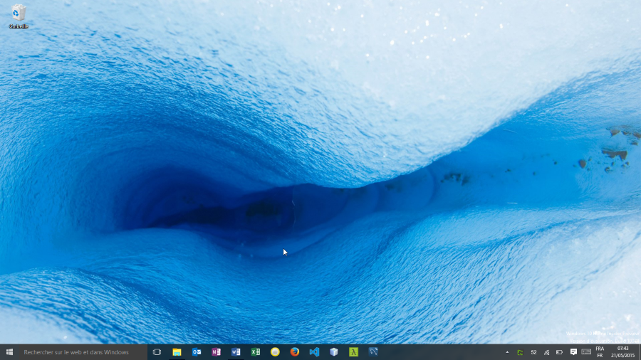 Bureau de Windows 10 Home Insider build 10074