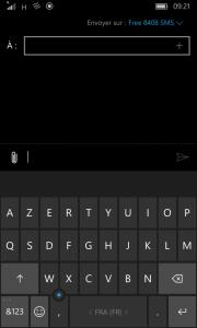 Windows 10 Mobile Clavier virtuel