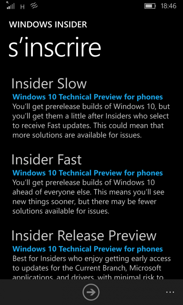 Windows 10 Mobile Insider Program