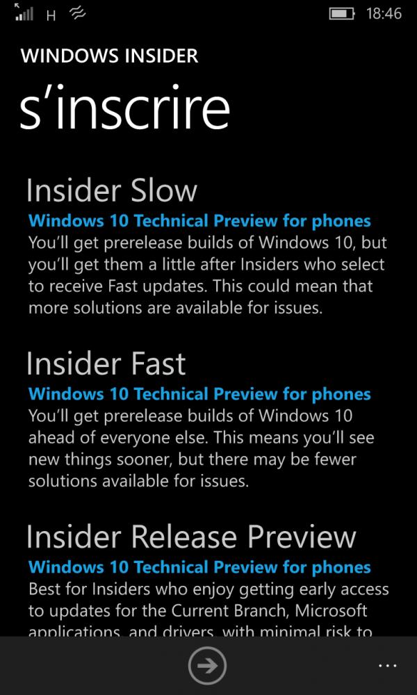 Windows 10 Mobile Insider Program