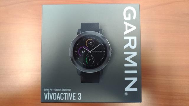 Boite de la Garmin Vivoactive 3